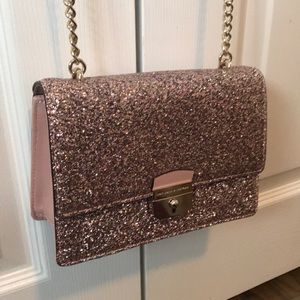 KATE SPADE glittering crossbody evening bag.